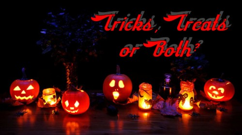 Happy Halloween, Tricks or Treats, Ghosts and Goblins